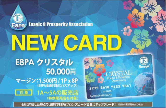 エナジック E8PAクリスタルカード